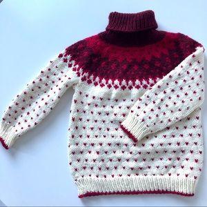 Hand-knit kids sweater